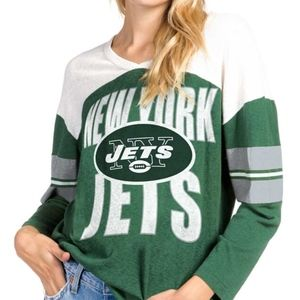 Junk Food New York Jets Long-sleeve women's tee, M